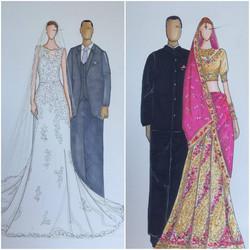 2 wedding ceremonies, 2 dresses