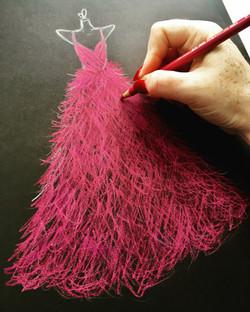 Fuschia Feathers