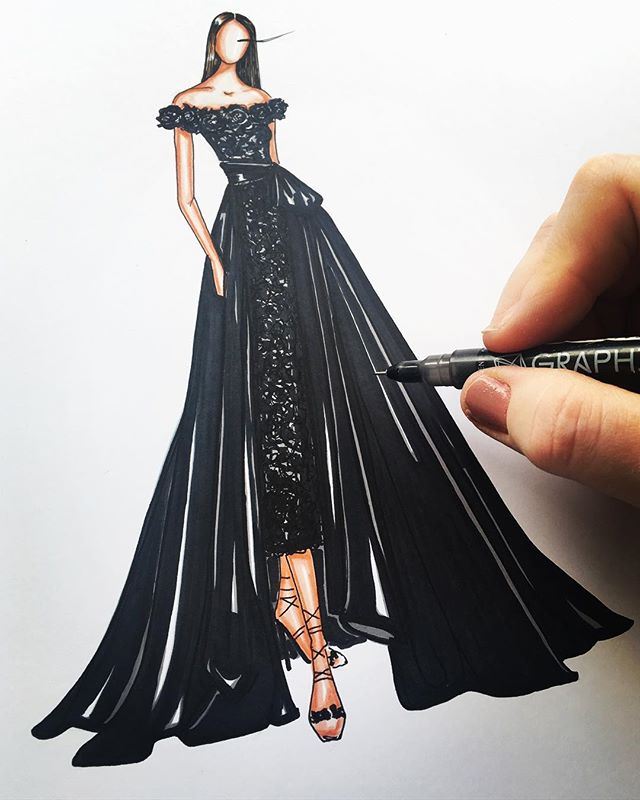 Sketching _marchesafashion 😍✨