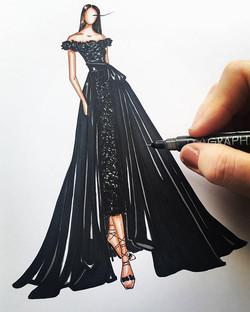 Sketching _marchesafashion 😍✨