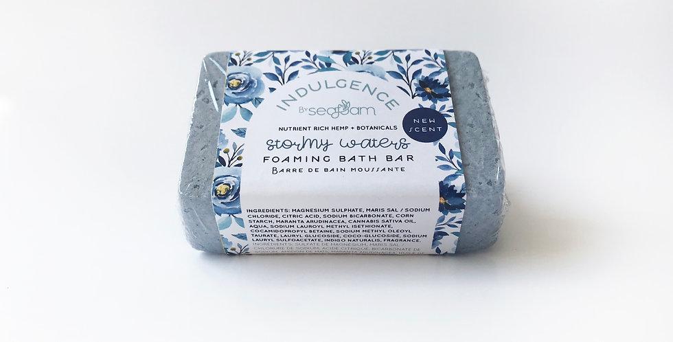 Stormy Waters Hemp Infused Foaming Bath Bar