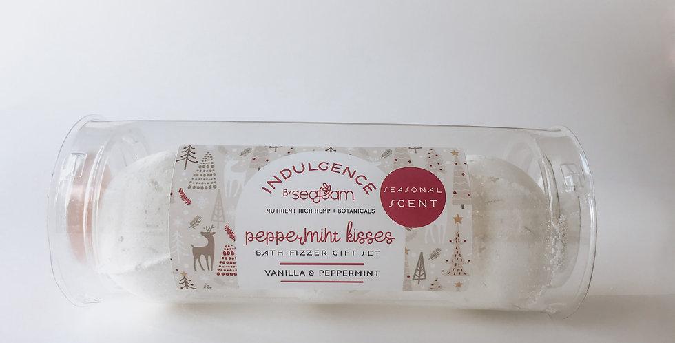 Peppermint Kisses   Hemp Infused Bath Fizzers