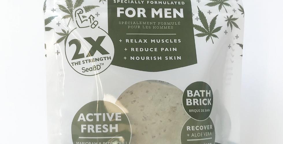 Active Fresh - Recover For Men SeaBD™ Terpene Bath Brick