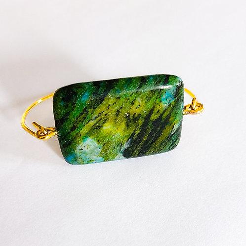 Green Apatite Bangle