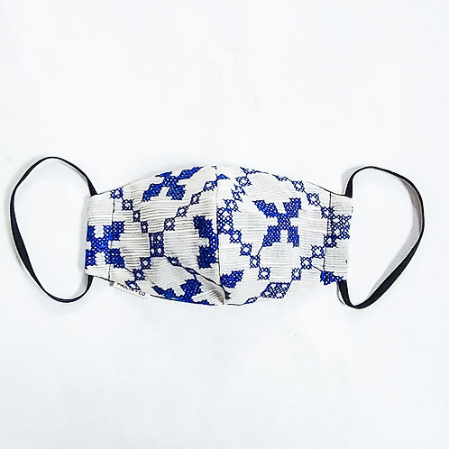 Blue Embroidery Mask