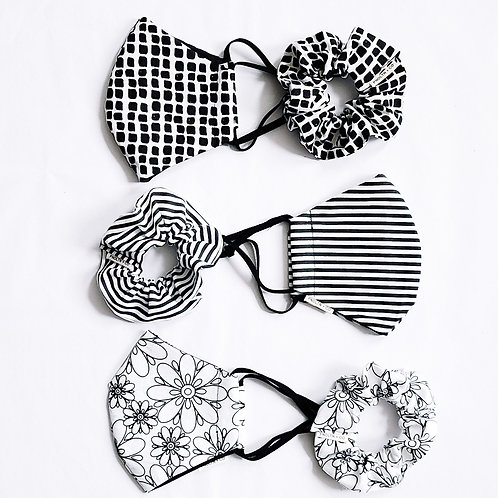 The Jett Collection Mask + Scrunchie