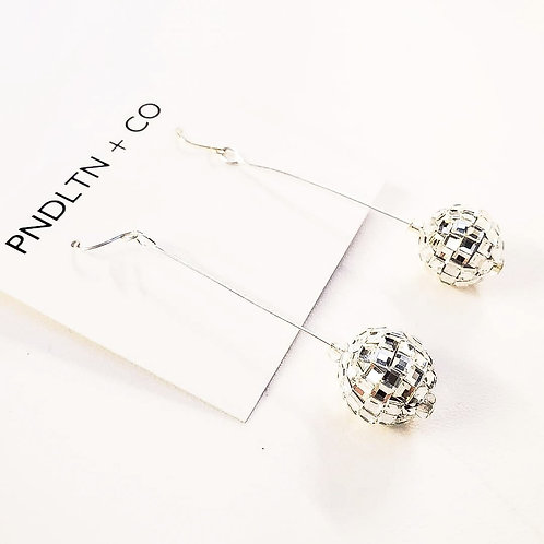 Glass Disco Ball Earrings
