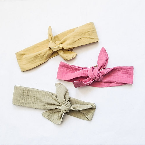Summer Linen Tie Headband