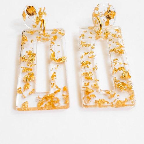 Goldie Dust Resin Earrings