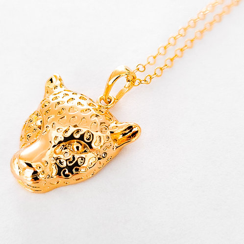 Leopard Pendant and Chain