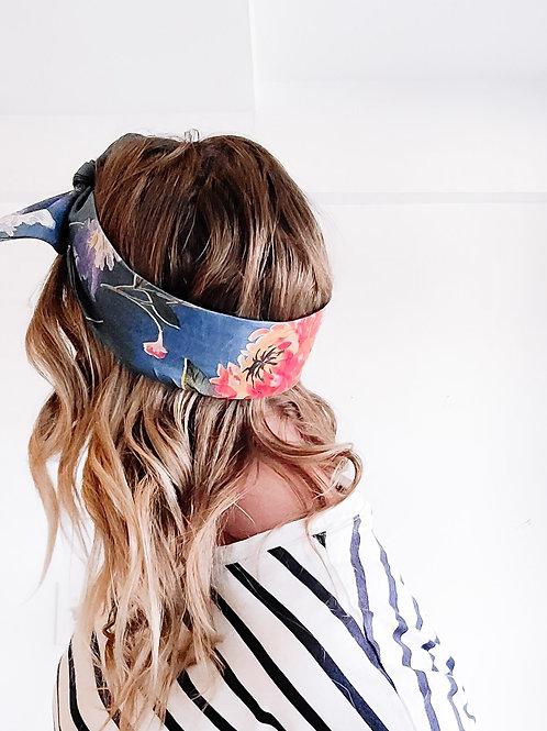 "The ""denim"" tie headband"