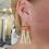 Thumbnail: Red Jasper earrings with beige suede tassels