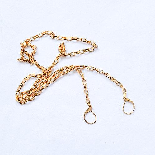 Gold Mask Chain / Gold Sunglass Chain
