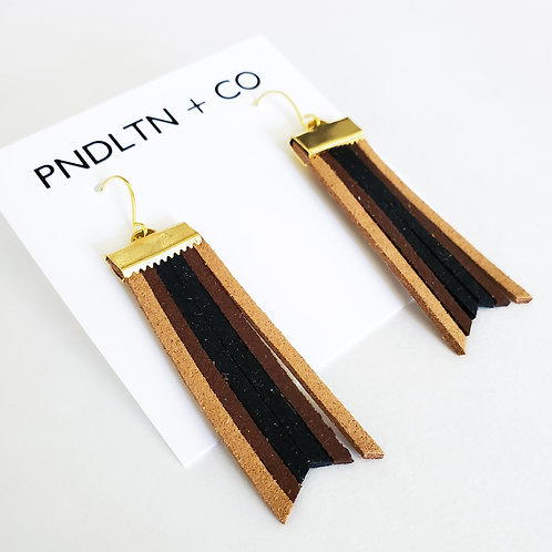 Faux Leather Dangle Earrings