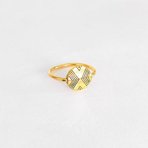 Gold Stamped Ring