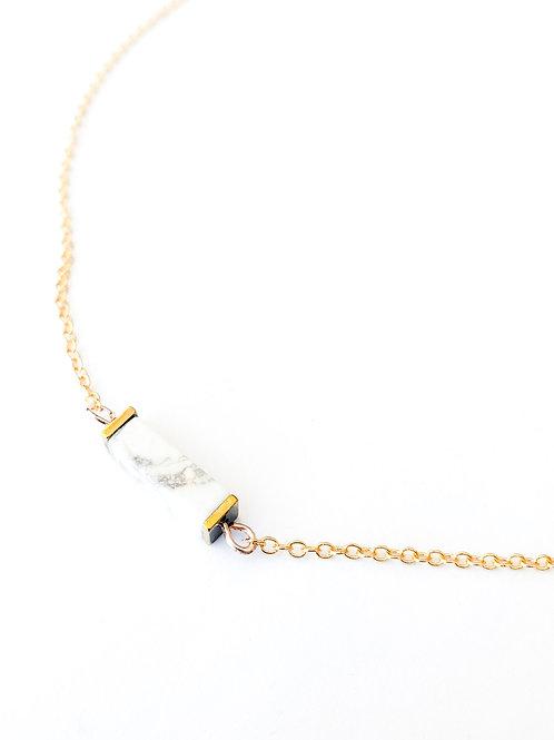 Small White Buffalo Pendant Necklace