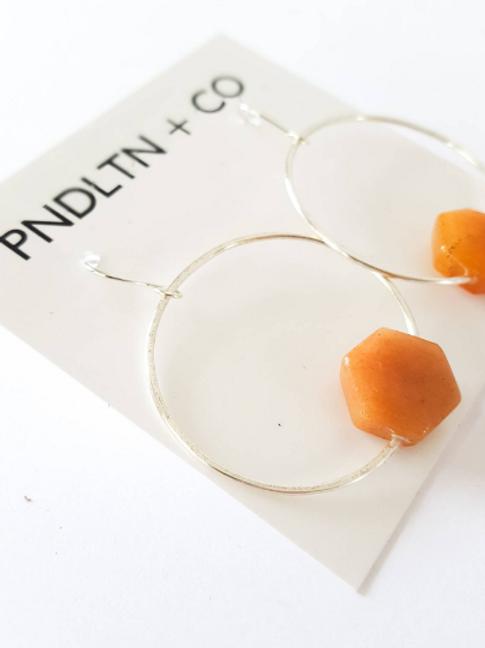 Orange Advent Hoop Earrings