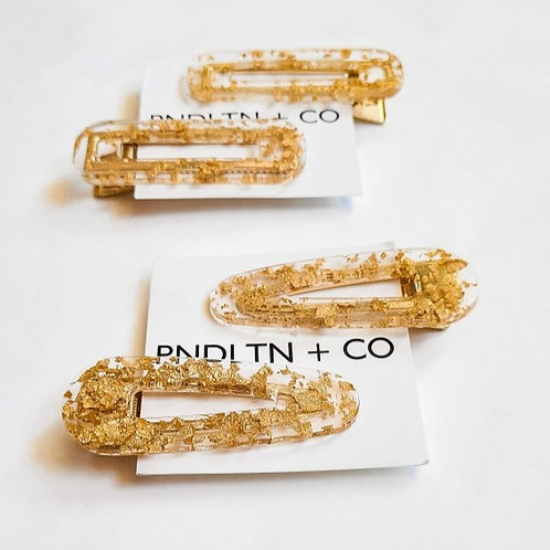 Goldie Barrettes  Two pack