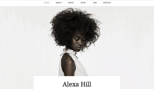 Music website templates – Soul Artist