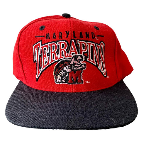 Vintage Maryland Terrapins Snapback Hat By The Game