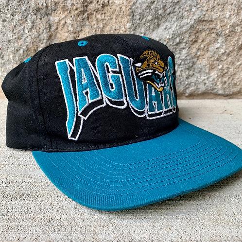 Vintage Jacksonville Jaguars Wave Snapback Hat By G Cap