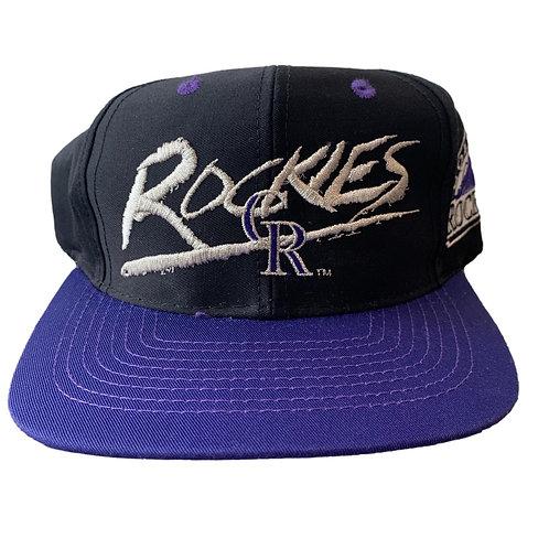 Vintage Colorado Rockies Snapback Hat By Signature