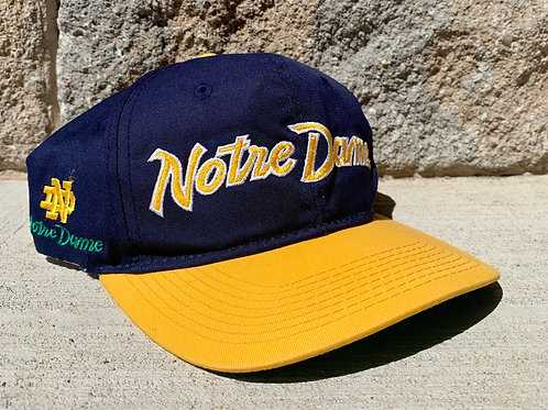 Vintage Notre Dame Fighting Irish Sports Specialties Script Snapback Hat