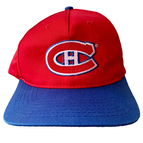 Vintage Montreal Canadiens Snapback Hat By AJM