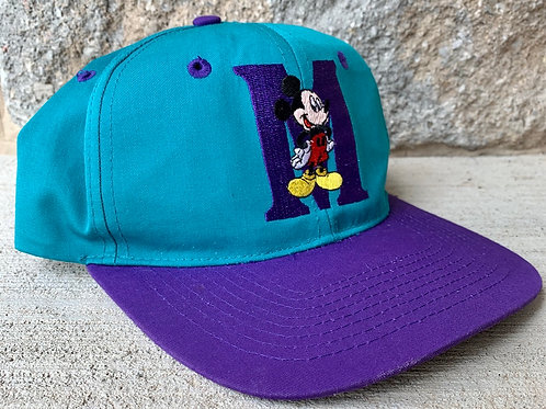 intage Mickey Mouse Snapback Hat By Mickey Unlimited