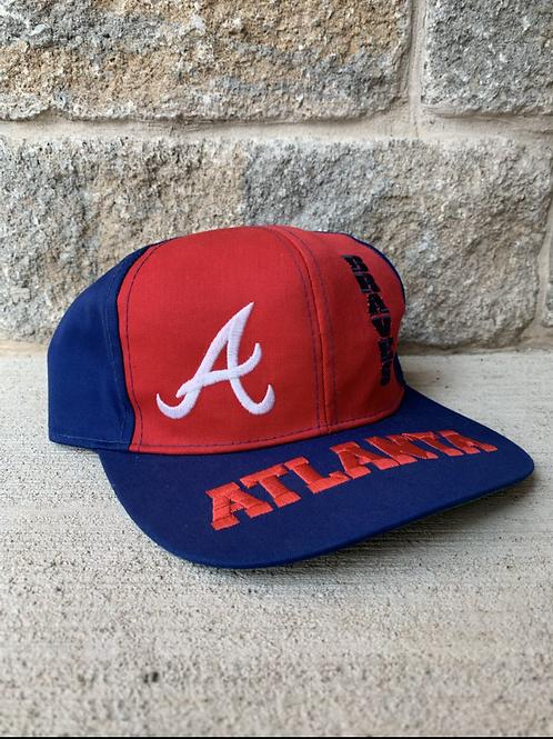 Vintage Atlanta Braves Snapback Hat By Drew Pearson