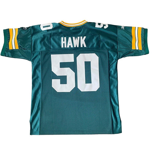 Vintage Green Bay Packers AJ Hawk NFL Football Jersey By Reebok