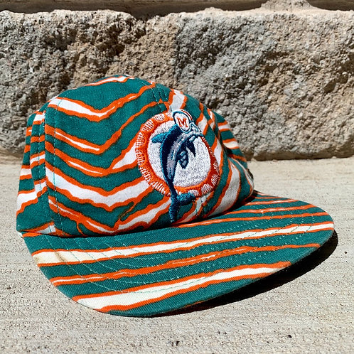 Vintage Miami Dolphins Zubaz Snapback Hat