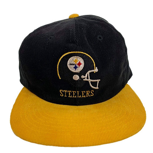 Vintage Pittsburgh Steelers Cord Snapback Hat By Ted Fletcher