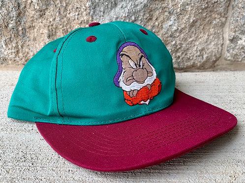 Vintage Snow White Grumpy Snapback Hat By Disney