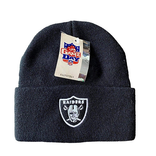 Vintage Oakland Raiders Beanie Winter Hat by Twins
