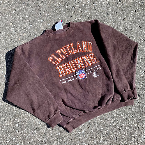 Vintage Cleveland Browns Crewneck Sweater By Logo Athletic