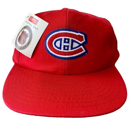 Vintage Montreal Canadiens Snapback Hat By Kystal