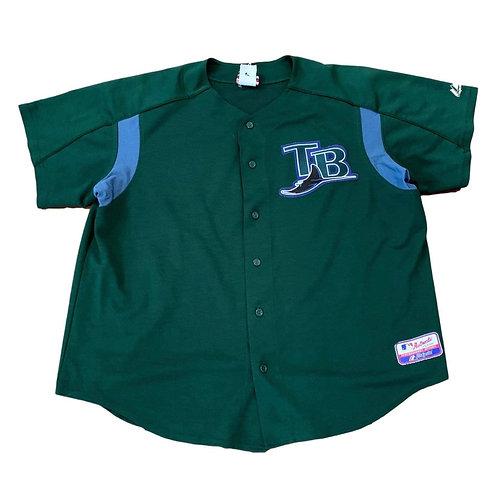 Vintage Tampa Bay Rays MLB Baseball Jersey By Majestic