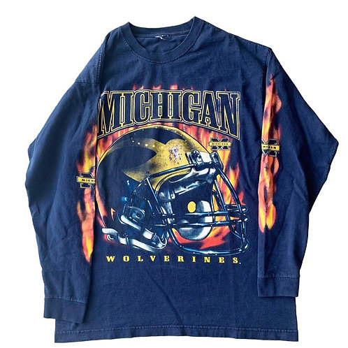 Vintage Michigan Wolverines Long Sleeve Shirt