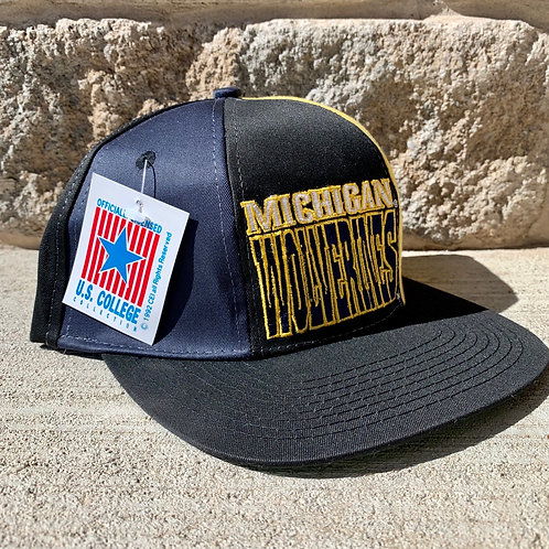 Vintage Michigan Wolverines Snapback Hat