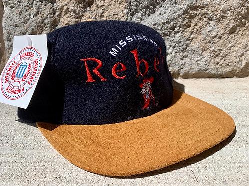 Vintage Mississippi Rebels Strapback Snapback Hat By Outdoor Cap