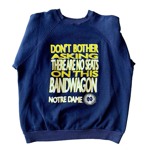 Vintage Notre Dame Irish Crewneck Sweater By TNT