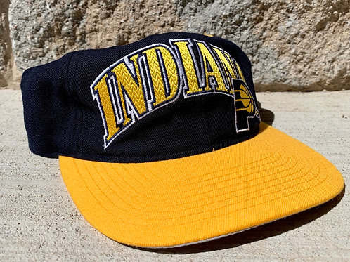 Vintage Indiana Pacers Snapback Hat By Starter