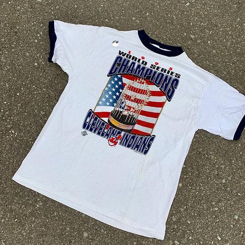 Vintage Cleveland Indians T Shirt By Starter