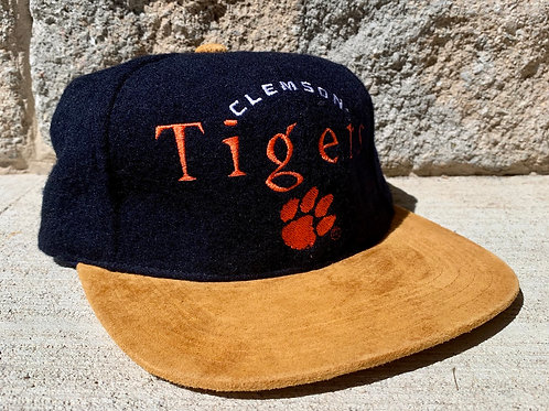 Vintage Clemson Tigers Strapback Hat By Outdoor Cap