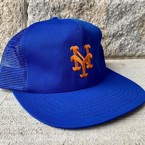 Vintage New York Mets Meshback Snapback Hat By Annco