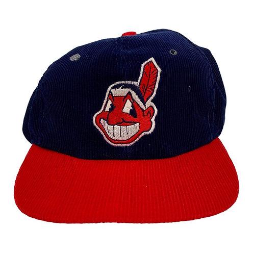 Vintage Cleveland Indians Cord Snapback Hat