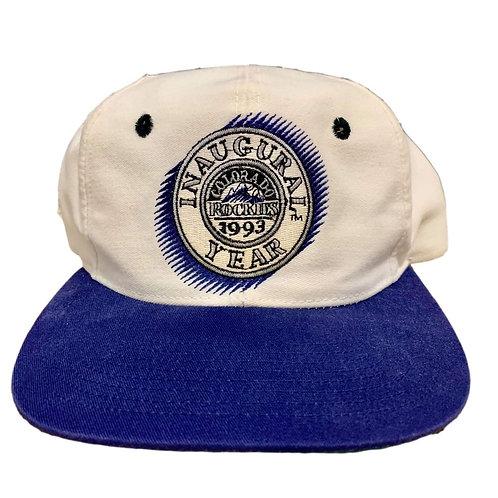 Vintage Colorado Rockies Snapback Hat By The Game