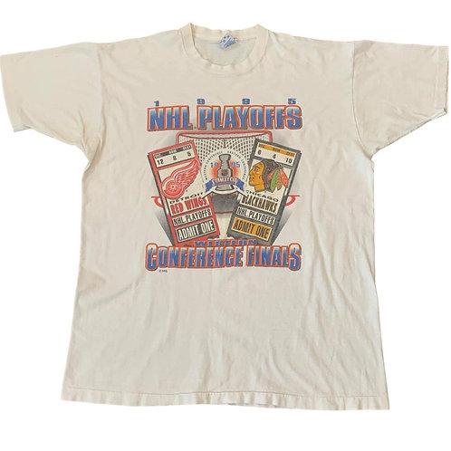 Vintage 1995 NHL Playoffs T Shirt By Salem