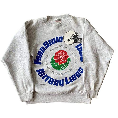 Vintage Rose Bowl Crewneck Sweater By Oneita